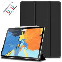 VORI Case for iPad Pro 11 Inch 2018, Strong Magnetic Trifold Stand Cover with Auto Sleep/Wake, Folio Smart Case for iPad Pro 11 2018, Black