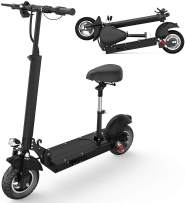 HAPICHIL Electric Scooter for Adults, Foldable UL Certified Commuting Electric Scooter with Removable Seat, Powerful 350W/500 Motor & 22/28 MPH, 36V 10AH/48V 15AH Battery Up to 17/25 Miles Long Range