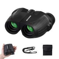 12x25 Compact Binoculars SGODDE Binoculars for Adults with Low Light Night Vision, Folding High Power Waterproof Binocular Easy Focus for Outdoor Hunting, Bird Watching,Traveling, Concert, Sport Games
