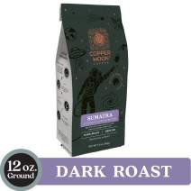 Copper Moon Coffee Sumatra Dark Ground 12 Ounce