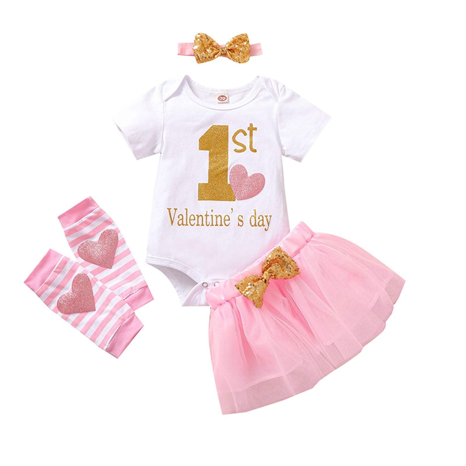 Taicanon Baby Girl My 1st St. Patrick's Day Outfit Girls Shamrock Skirt Sets