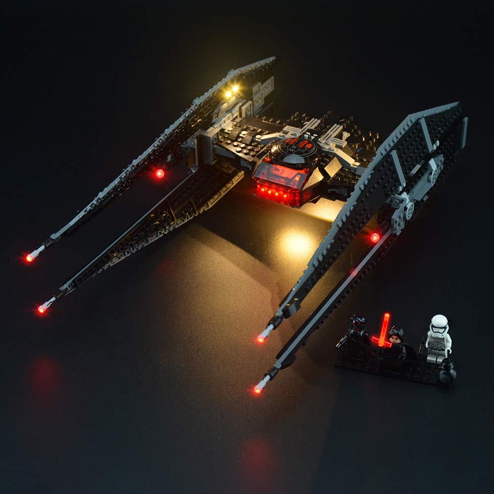 LIGHTAILING Light Set for (Star Wars Kylo Ren's Tie Fighter) Building Blocks Model - Led Light kit Compatible with Lego 75179(NOT Included The Model)