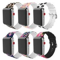 MITERV Compatible with Apple Watch Band 38mm 42mm 40mm 44mm Soft Silicone Fadeless Pattern Printed Replacement Bands for iWatch Series 6,SE,5,4,3,2,1