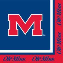 20-Count Paper Lunch Napkins, University of Mississippi Rebels