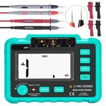 250V~1000V Digital Insulation Resistance Tester Megohm Meter with Test Probe & Crocodile Clips