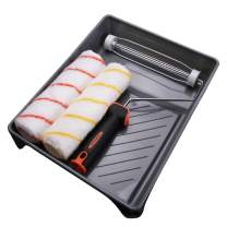 Naiveroo Paint Roller Kit 4 Pieces, 9 inch Paint Tray Set Roller Frame, Roller Covers for Walls and House Painting Supplies