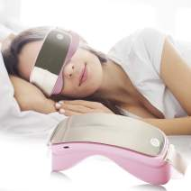 Royal Seal's Electric Heated Sonic Vibration Eye Massager for Anti-aging, Anti-wrinkles, Eliminating Dark Circles, Puffy Eyes, Dry Eyes, Eye Fatigue and Eye Bags Pale Pink