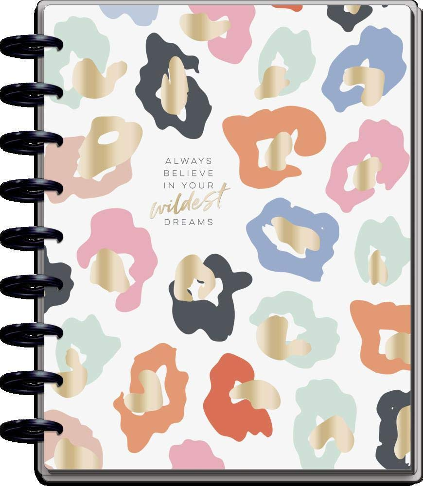 """The Happy Planner Classic Sized 18 Month Planner - Colorful Leopard Theme - July 2021 - December 2022 - Vertical Layout - Montly & Weekly Disc-Bound Pages - 7"""" x 9.25"""""""