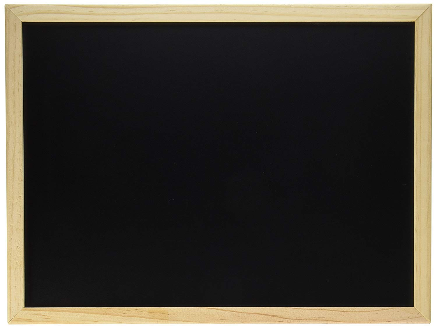 """Darice Erasable Blackboard with Wood Frame–Use with Chalk or Chalk Markers–Unfinished Wood Frame Ready to Decorate–Perfect for First Day of School, Baby Milestones, Events, Chalk Art and More, 12""""x16"""""""