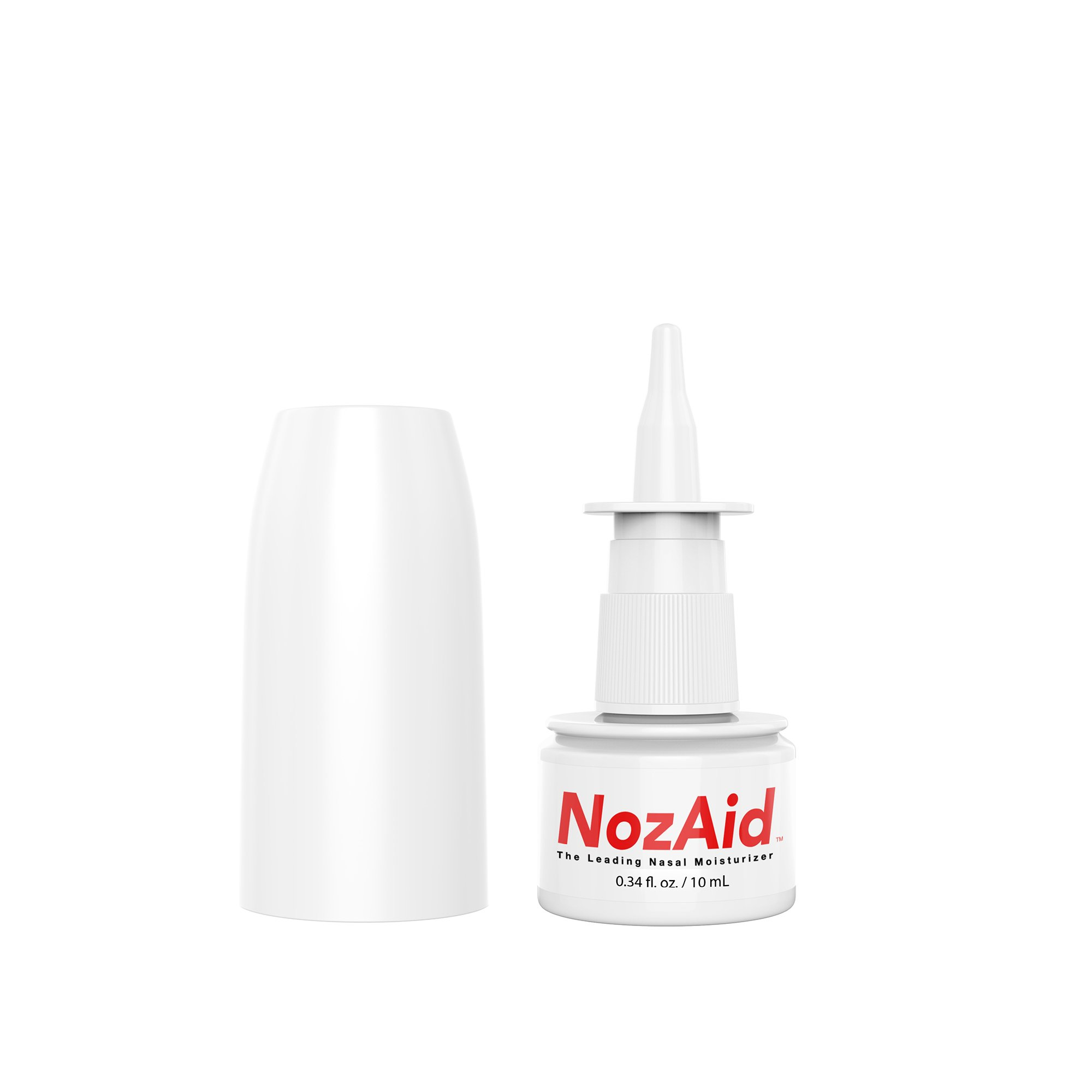 NozAid Nasal Moisturizer Spray w/Sesame Oil .34 oz Barrier to Pathogens Virus Bacteria Moisturizing Lubricant for Dry, Crusty, Cracked, Stuffy Nose Relief, Nosebleeds, Preservative Free by NozAid