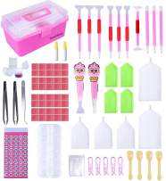 SanerDirect 121pcs 5d Diamond Painting Accessories, New Design Light Drill Pens, Diamond Painting Tools for Adults, Diamond Embroidery Storage Box for DIY Craft