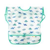 Happy Cherry Baby Infant Cartoon Bib Apron Waterproof Breathable Smock for Kids Eating Feeding
