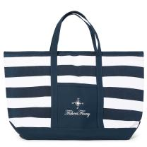Fishers Finery Small Beach Bag Shoulder Tote Bag for Women Beach Tote (Navy, S)