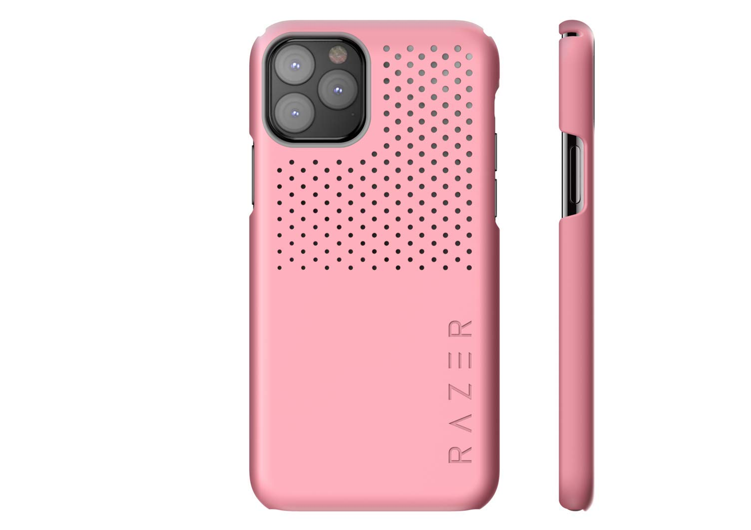 Razer Arctech Slim for iPhone 11 Pro Max Case: Thermaphene & Venting Performance Cooling - Wireless Charging Compatible - Quartz Pink