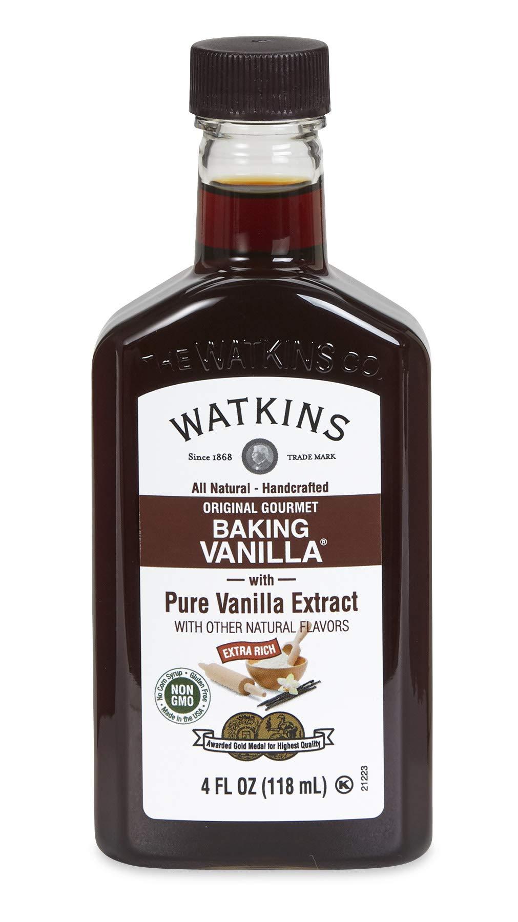 Watkins All Natural Original Gourmet Baking Vanilla Extract, 4 Fl Oz (Pack of 1)