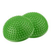 2Pcs/Lot Balance Pods, Foot Massage Ball Sports Half Ball Pimples Pilates Ball Balance Hedgehog Ball Toy for Yoga Fitness Gymnastics Exercise (Color : Green)