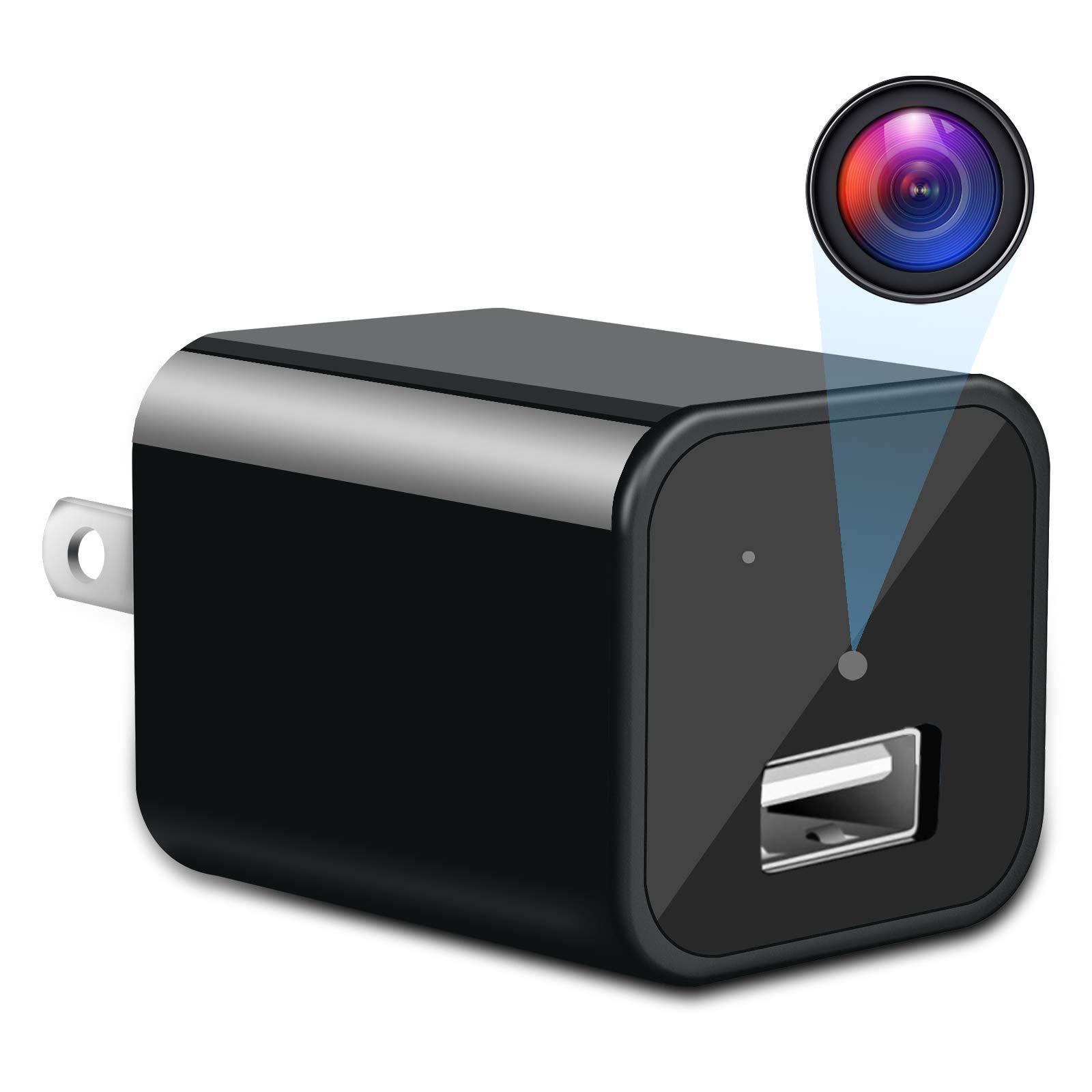 Hidden Camera Charger - Spy Camera - Non WiFi Camera 1080P HD Nanny Cam/Security Camera USB Charger Camera Indoor Motion Activated Surveillance Camera