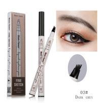 Tattoo Eyebrow Pen,Shouhengda Eyebrow Long Lasting Tint Dye Cream,Waterproof,Smudge-proof Brow Gel for Eyes Makeup (A3-Dark Grey)