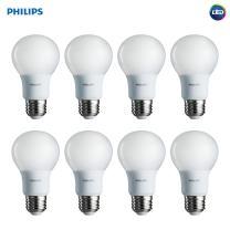 Philips LED Non-Dimmable A19 Frosted Light Bulb: 450-Lumen, 5000-Kelvin, 5-Watt (40-Watt Equivalent), E26 Base, Daylight, 8-Pack
