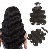 Karbalu Hair 10A Brazilian Body Wave Virgin Hair Brazilian Virgin Hair Body Wave 3 Bundles Unprocessed Human Hair Weave Hair Extensions Natural Black Color 20 22 24 Inch