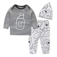 Baby Girl Clothes 3-Piece Long Sleeve Tops Pants Headband Newborn Girls Outifts