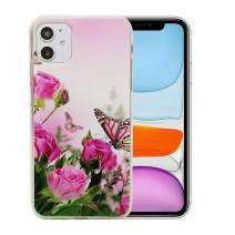 6.1 inch iPhone 11 Case, Clear Flower Design Soft & Flexible TPU Ultra-Thin Shockproof Transparent Protective Floral Cover Case for iPhone 11(2019)