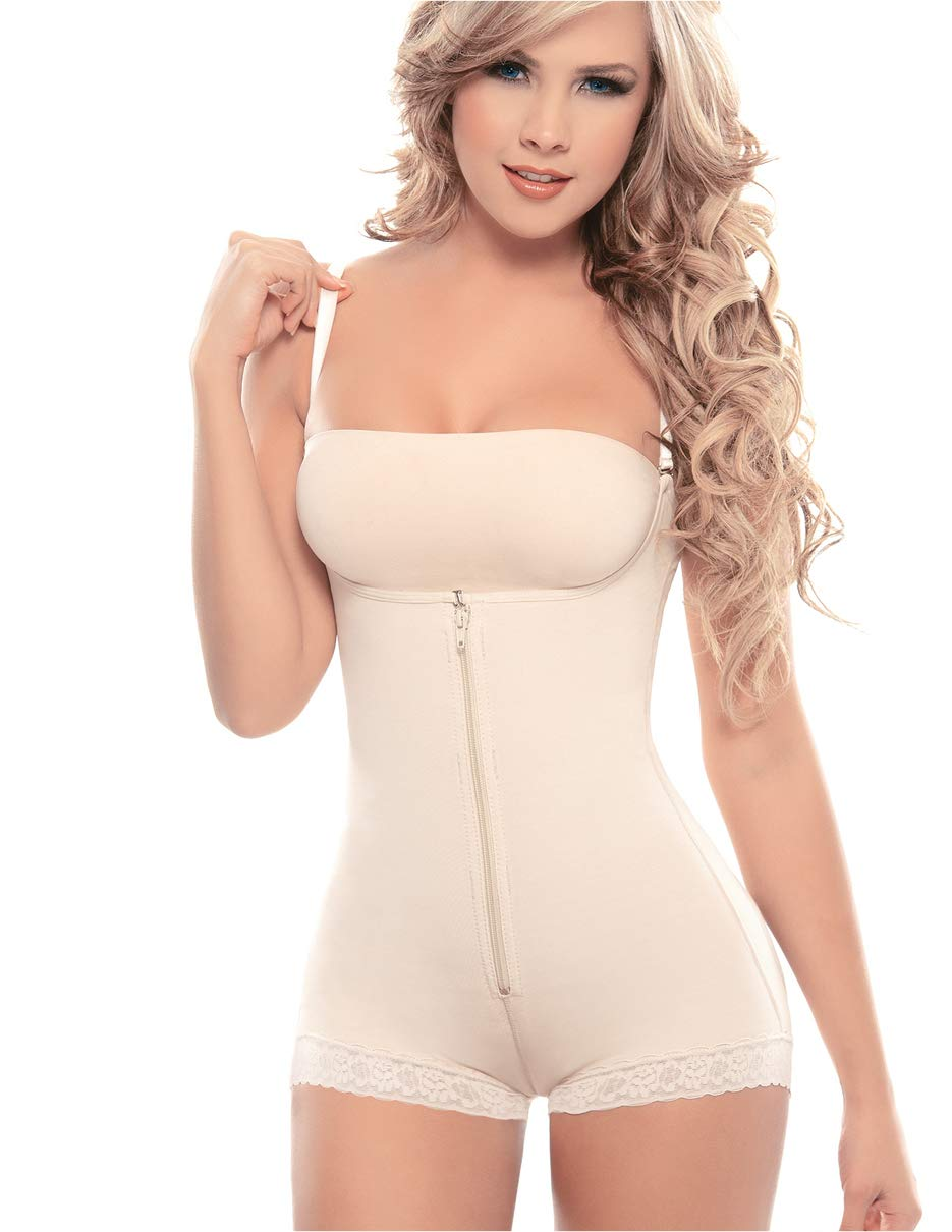 Siluet 1300 Fajas Colombianas Body Shaper | High Compression Slimming Braless