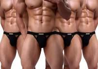 Arjen Kroos Men's Low Rise Jockstrap Underwear Sexy Soft Cotton Jock Strap Athletic Supporter