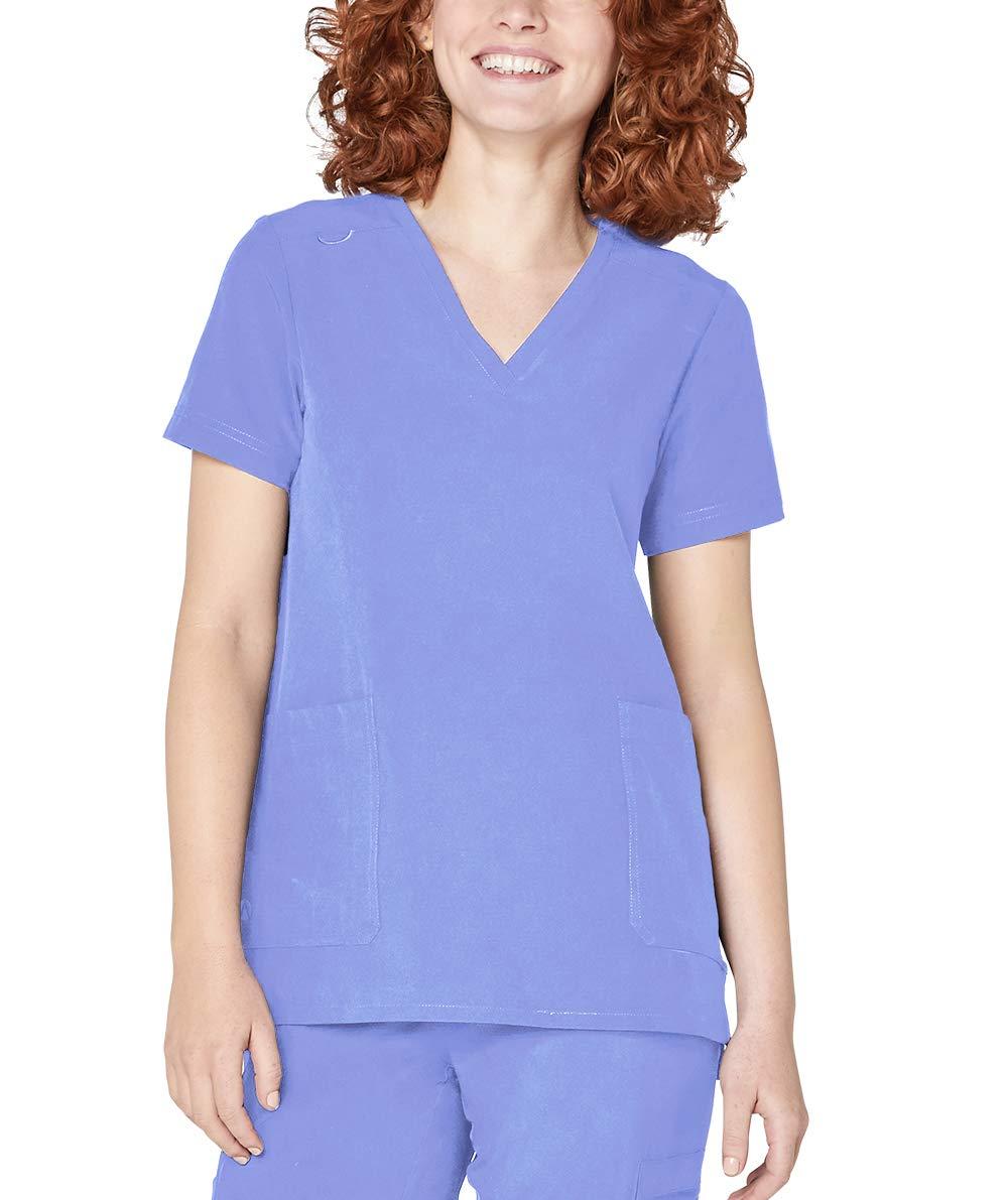 Adar Addition Scrubs for Women - Modern V-Neck Scrub Top