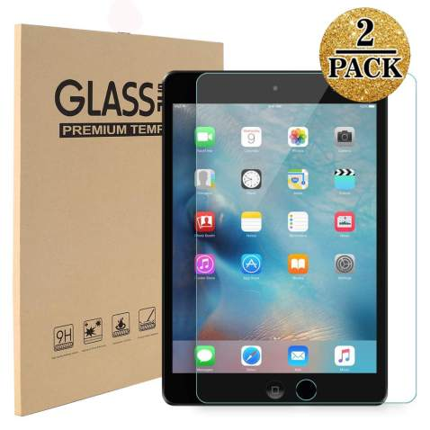 TopEsct Tempered Glass Screen Protector Compatible with iPad Mini 1/2/3[2Pack],Compatible with Apple iPad Mini 1/2/3,9H Hardness,2.5D Edge,Ultra Clear,Anti-Scratch(Mini321)