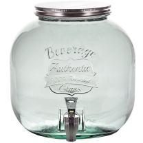 Couronne Company G5296-SQ Authentic Glass Beverage Dispenser w/ Spigot, 202.9 oz, Clear, 1 Piece