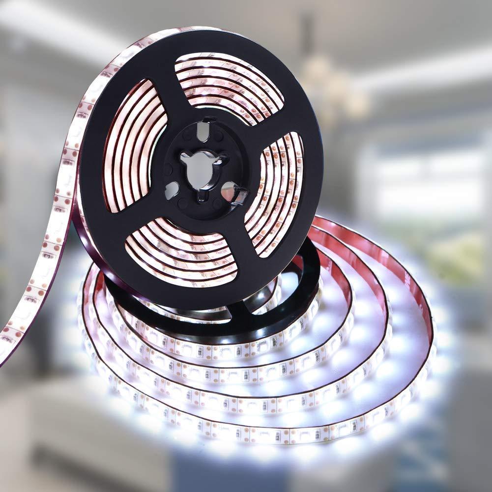 LED Strip Lights Battery Powered, Battery LED Lights Strip Waterproof LED Strip Rope Lights Ultra Bright Strip Lights Flexible LED Ribbon Light Mood Light-Cool White 2M/6.56ft