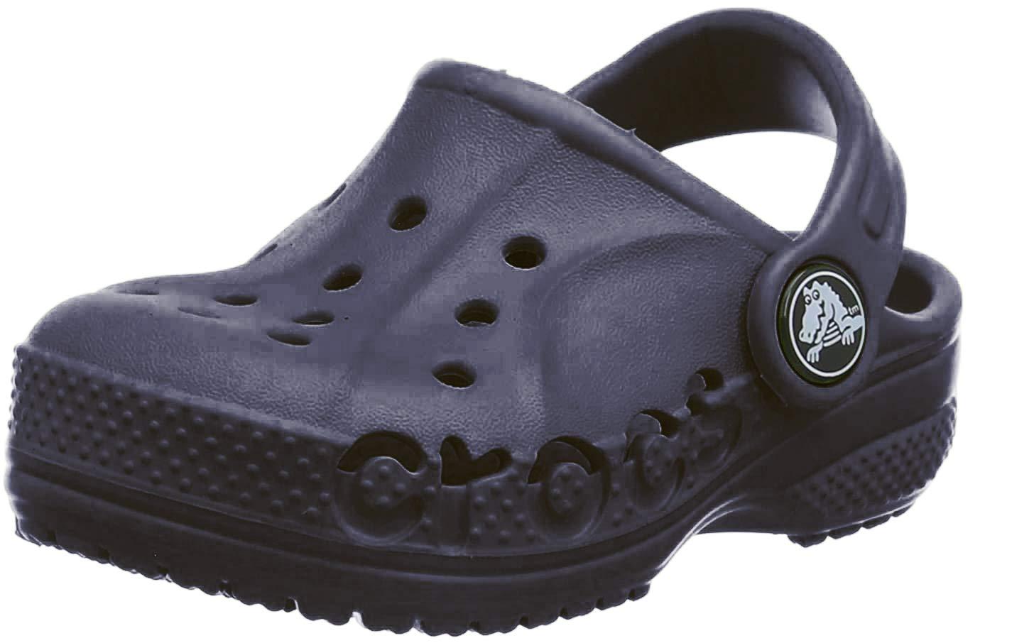 Crocs Kids' Baya Clog  Comfortable Slip On Water Shoe for Toddlers, Boys, Girls, Navy, 4 M US Toddler