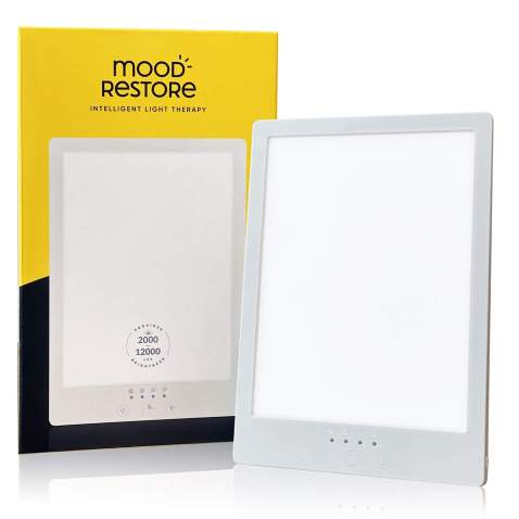 Mood Restore - (1 Pack) 12,000 LUX Light - Happy Sun Light w/Timer, UV-Free w/ 6ft Power Cord UL Listed
