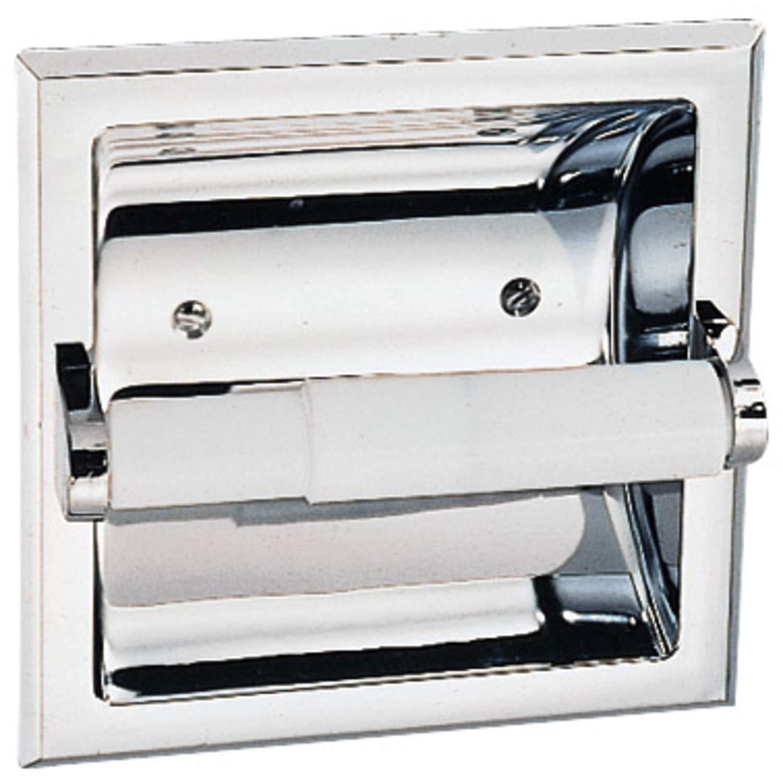 Design House 533125 Millbridge Recessed Toilet Paper Holder, Polished Chrome, One Size