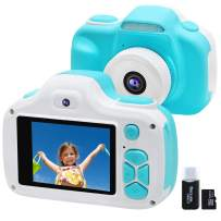 Kids Camera for Boys Girls Gifts, Video Selfie Digital Cameras for Children 3-12 Years Old, Shockproof Mini Learning Toys Cameras for Children's Day Birthday (Blue)