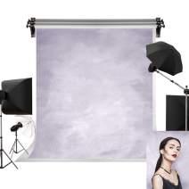 Kate 5x7ft/1.5m(W) x2.2m(H) Photo Backdrops Photographers Retro Solid Light Grey Background Light Purple Backdrop Photography Props Studio Digital Printed Backdrop