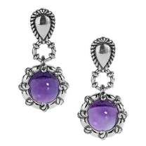 Carolyn Pollack Sterling Silver Gemstone Drop Earrings