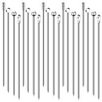 20PCS Cocktail Picks, 4 Styles Cocktail Skewers, Stainless Steel Martini Picks, Reusable Metal Cocktail Toothpicks Sticks for Olives Appetizers Sandwich (4.3 Inches)