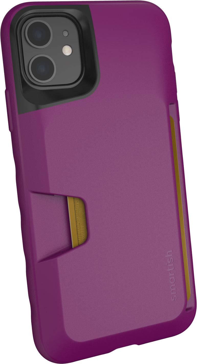 Smartish iPhone 11 Wallet Case - Wallet Slayer Vol. 1 [Slim + Protective] Credit Card Holder (Silk) - Purple Reign