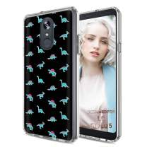 TalkingCase Phone Cover for LG Stylo 5, Cute Dinosaurs Stickers Print, Light Weight, Ultra Flexible, Super Thin, Soft Touch, Photo-Quality Anti-Scratch Printing, Designed and Printed in USA