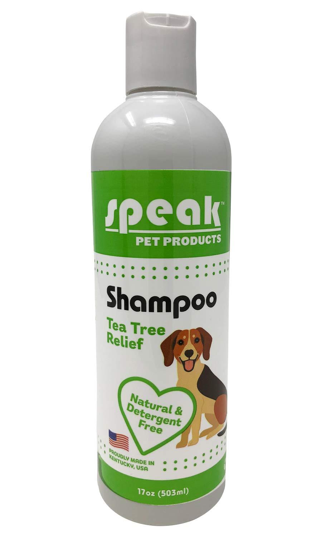 Speak Pet Products Natural Moisturizing Tea Tree Relief Dog Shampoo, 17 Ounce Bottle