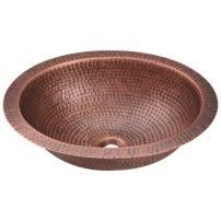 909 Single Bowl Oval Copper Sink, Sink Only