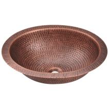 909 Single Bowl Oval Copper Sink, Sink Only