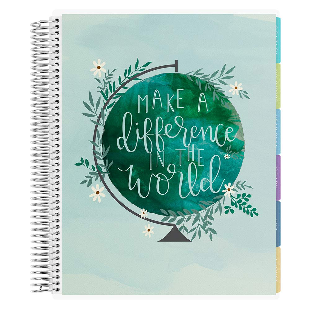Erin Condren 12 - Month 2020-2021 Make a Difference Teacher Lesson Planner (August 2020-July 2021) - Kaleidoscope Interior Design, 210 Pages of Planning Potential