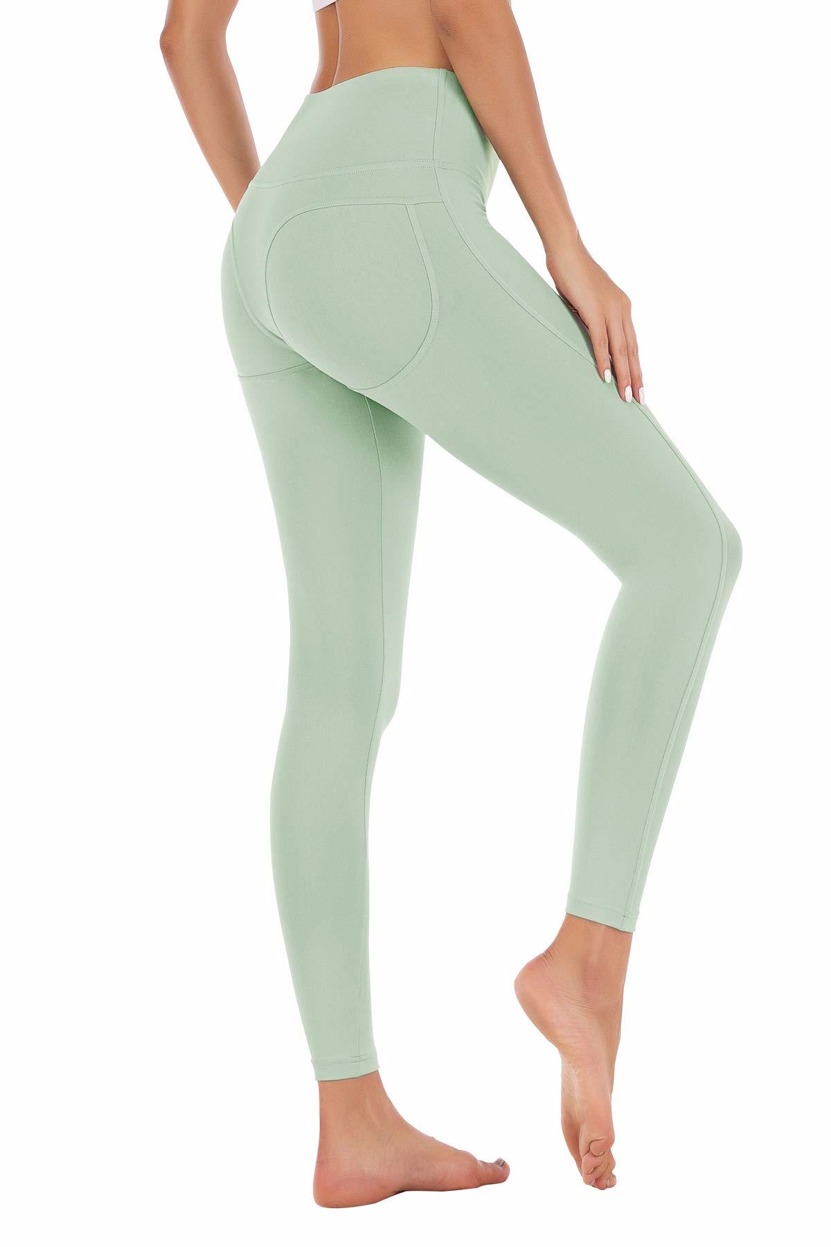Women Butt Lift Yoga Pants Slimming High Waist Tummy Control Dry-Fit Workout Gym Leggings