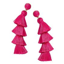 Tassel Earrings Fringe Drop Long Dangling Tiered Thread Earrings