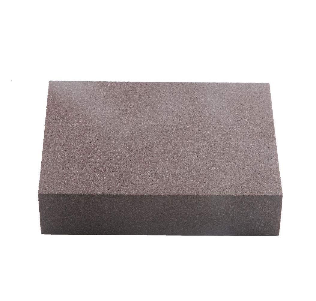 Dtacke 6pcs Double-sided Polishing Sanding Sponges Sandpaper Sanding Block Pad Washable Paint Sanding Block Wood Metal Derusting Sandpaper Sponge Cleaning Sponge (60 Grit (Medium Fine))