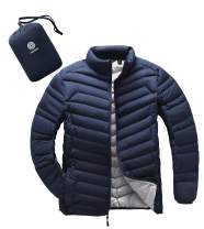 LAPASA Men's Packable Down Jacket Water-Resistant with Zipper Pockets Ultra-Lightweight Winter Outerwear Duck Down-Filled M32