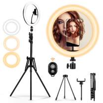"""10.2"""" Selfie Light Ring with Tripod Stand, MOHOO Led Ring Light Halo Light Ring for YouTube Video Live Streaming Makeup Photography TikTok"""